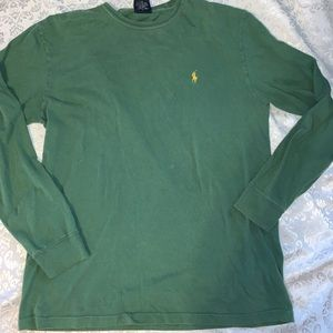 Men's polo long sleeve shirt. FREE with  purchase